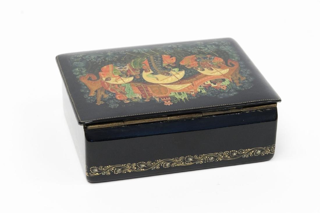 Lutov Palekh Russian Lacquer Box. - 3
