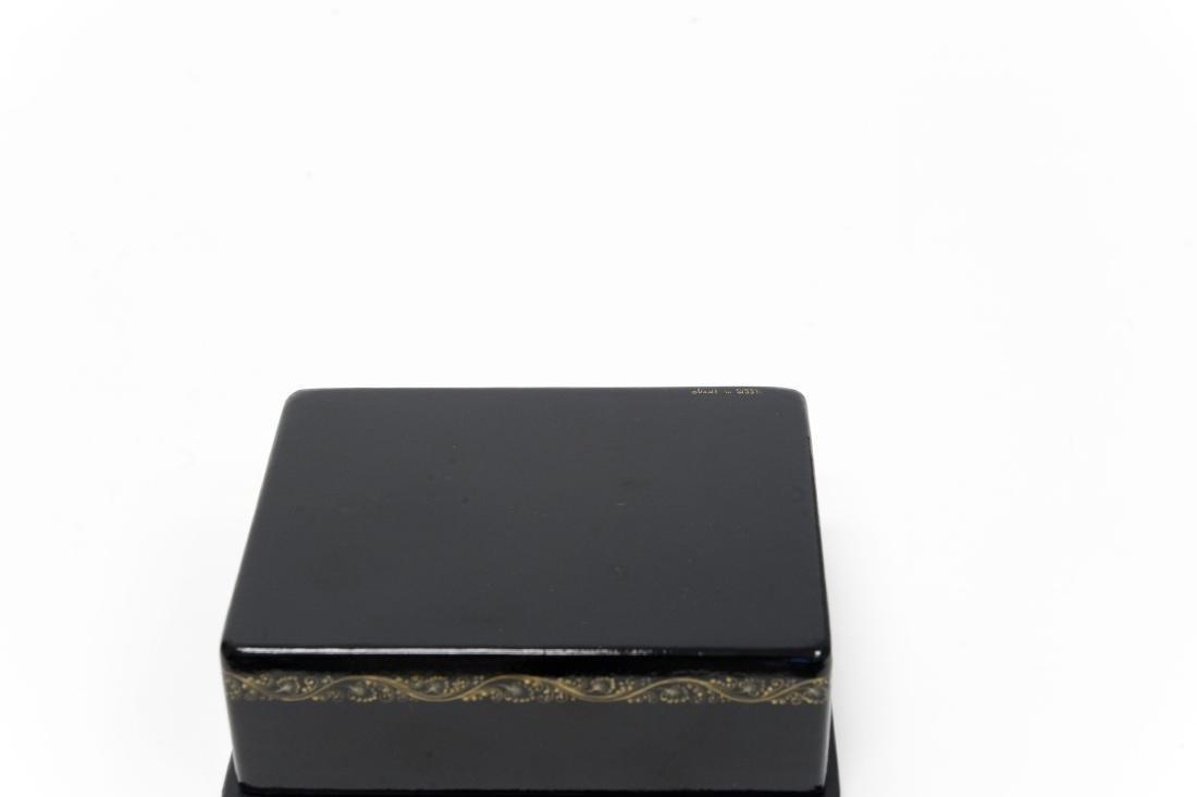 Lutov Palekh Russian Lacquer Box. - 7