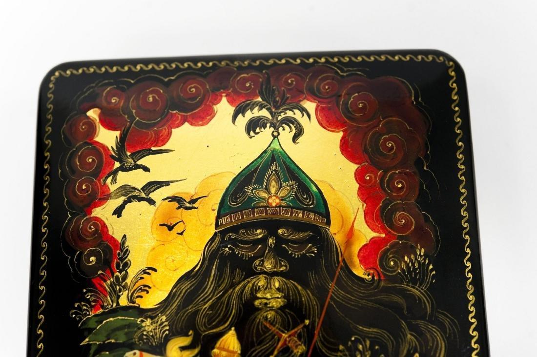 Kholui Russian Lacquer Box. - 5