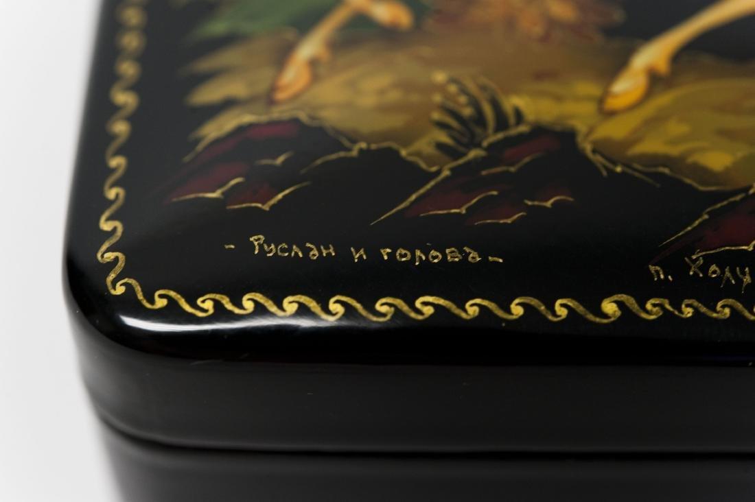Kholui Russian Lacquer Box. - 6