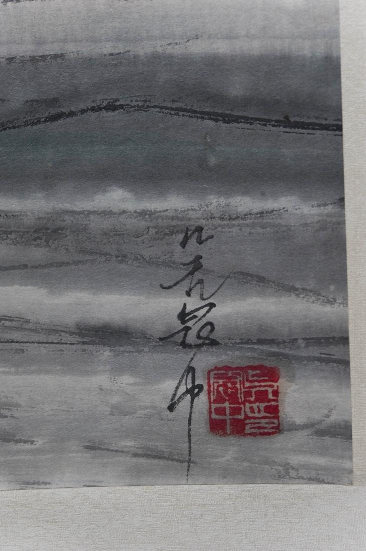 After Wu Guangzhong, Scroll on Paper. - 2