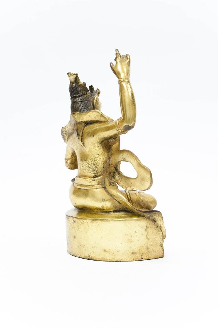 Chinese Gilt Bronze Seated Figure. - 2
