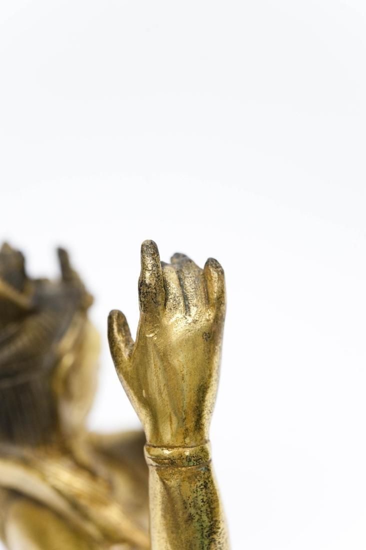 Chinese Gilt Bronze Seated Figure. - 3