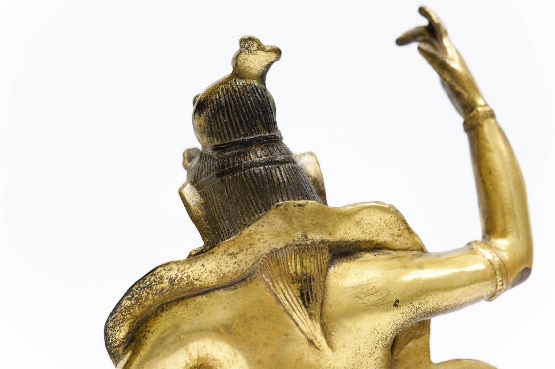 Chinese Gilt Bronze Seated Figure. - 4