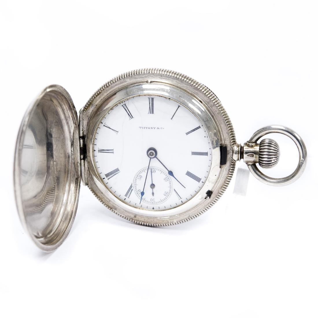 Tiffany & Co. Sterling Silver Pocket Watch.