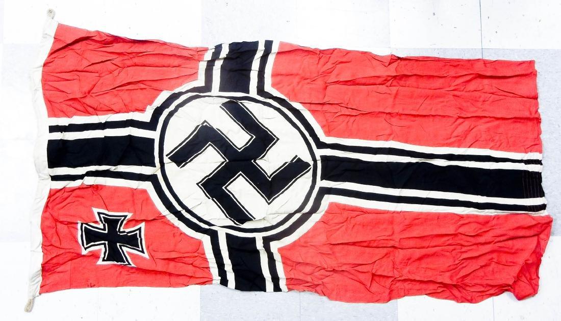German World War II Flag and 2 Banners. - 6