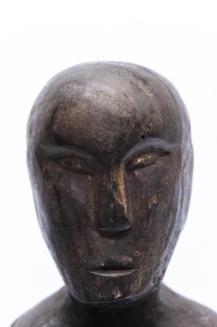 (4) Carved Wood Tribal Figures. - 9