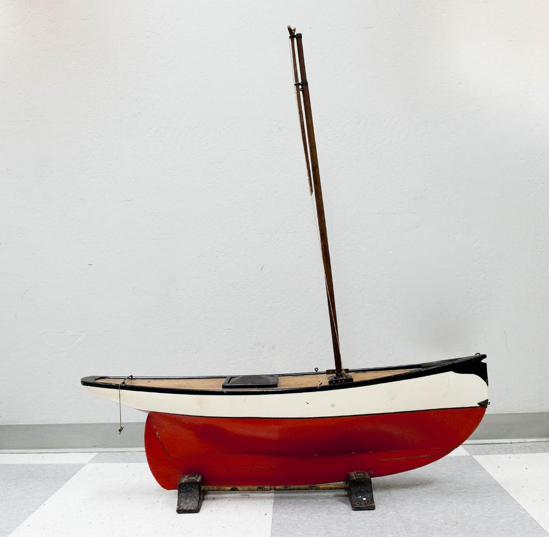 Early 20th C. Model Sailboat.