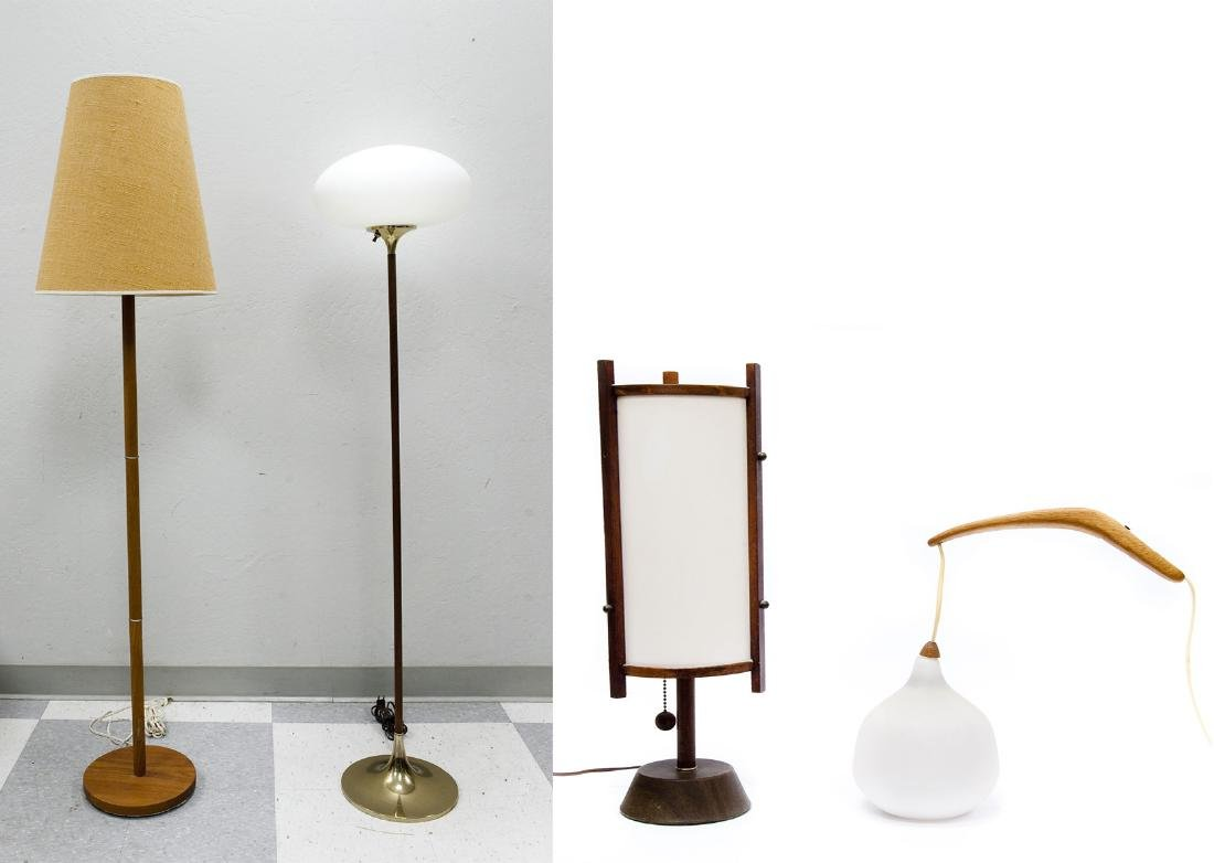 (4) Mid 20th C. Modern Lamps.