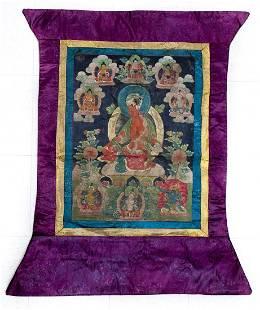 19th C Tibetan Thangka