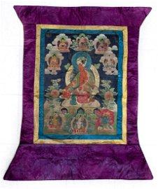 19th C. Tibetan Thangka.