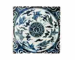 Chinese Blue White Porcelain Tile