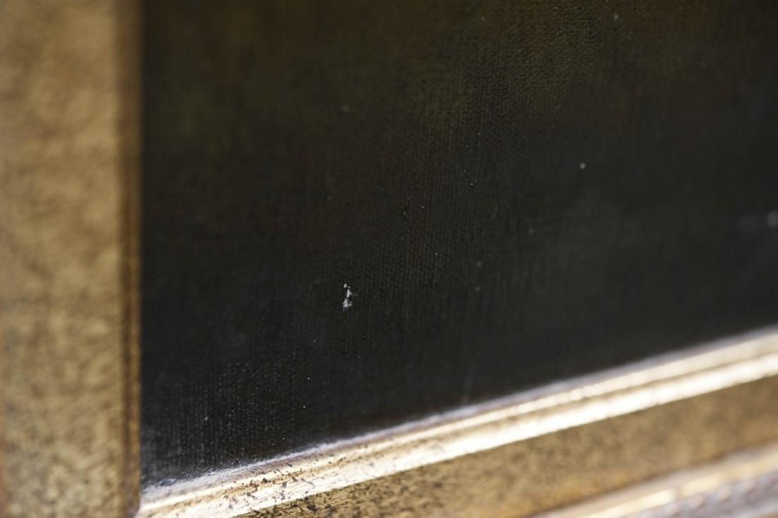 Gilt Framed Oil on Canvas, Two Horses. - 9