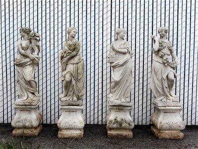 Four Seasons Stone Garden Statues.