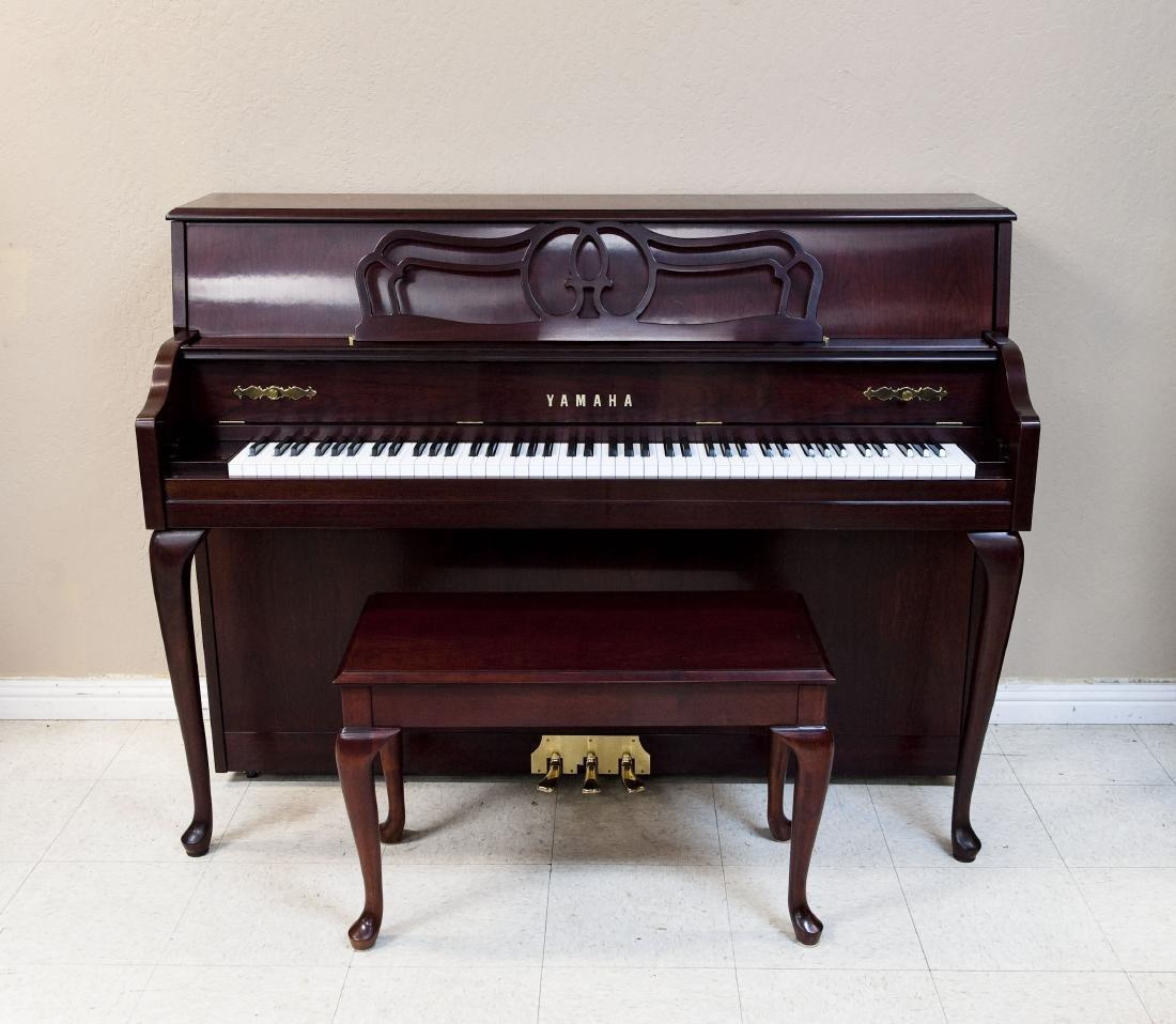 Yamaha M560QA Upright Piano with Bench.