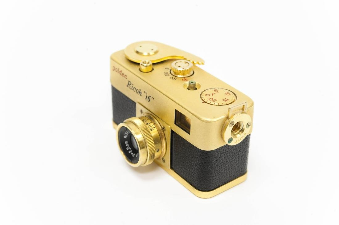 """Golden Ricoh """"16"""" Camera with Case. - 3"""