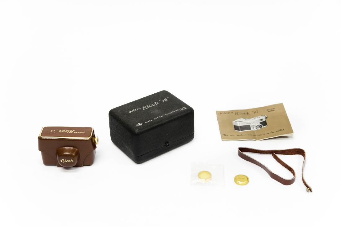 """Golden Ricoh """"16"""" Camera with Case. - 5"""
