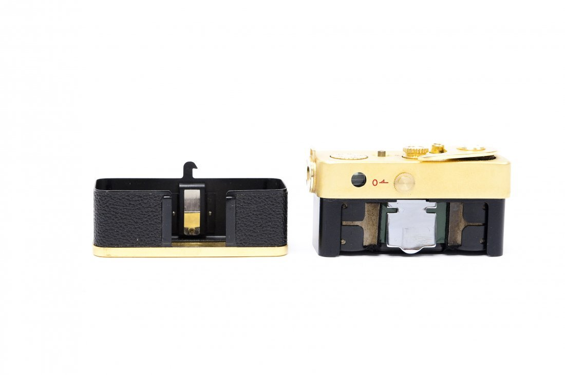 """Golden Ricoh """"16"""" Camera with Case. - 6"""