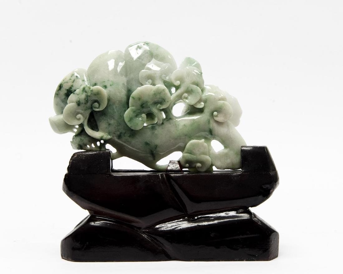 Chinese Carved Hard Stone Sculpture on Stand. - 5