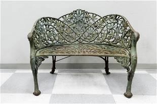 Circa 1870 Coalbrookdale Passion Flower Garden Seat