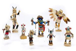 Group of 8 Kachina Dolls