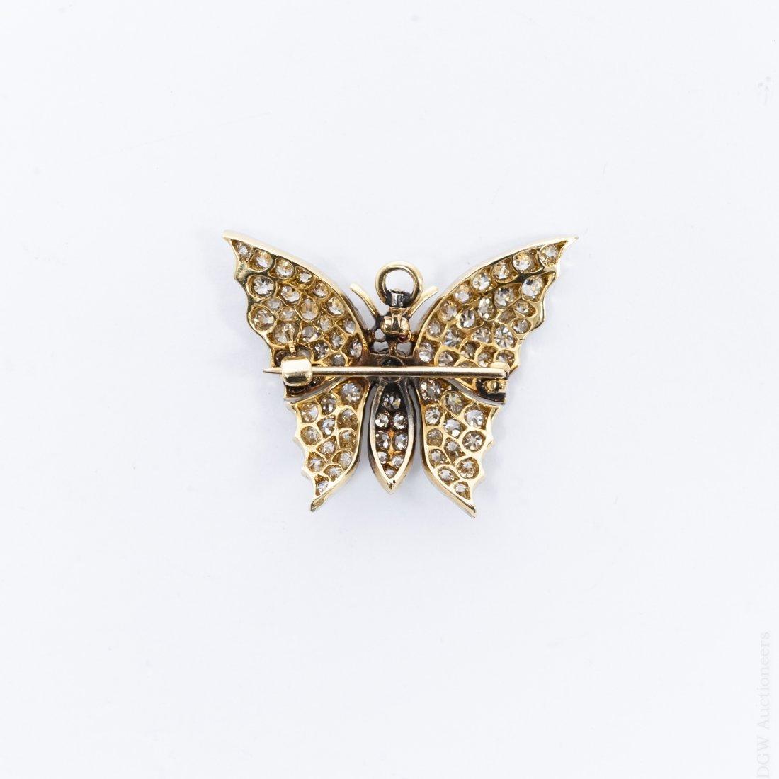 Diamond Butterfly Brooch / Pendant. - 2