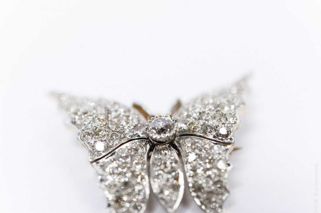 Diamond Butterfly Brooch / Pendant. - 3
