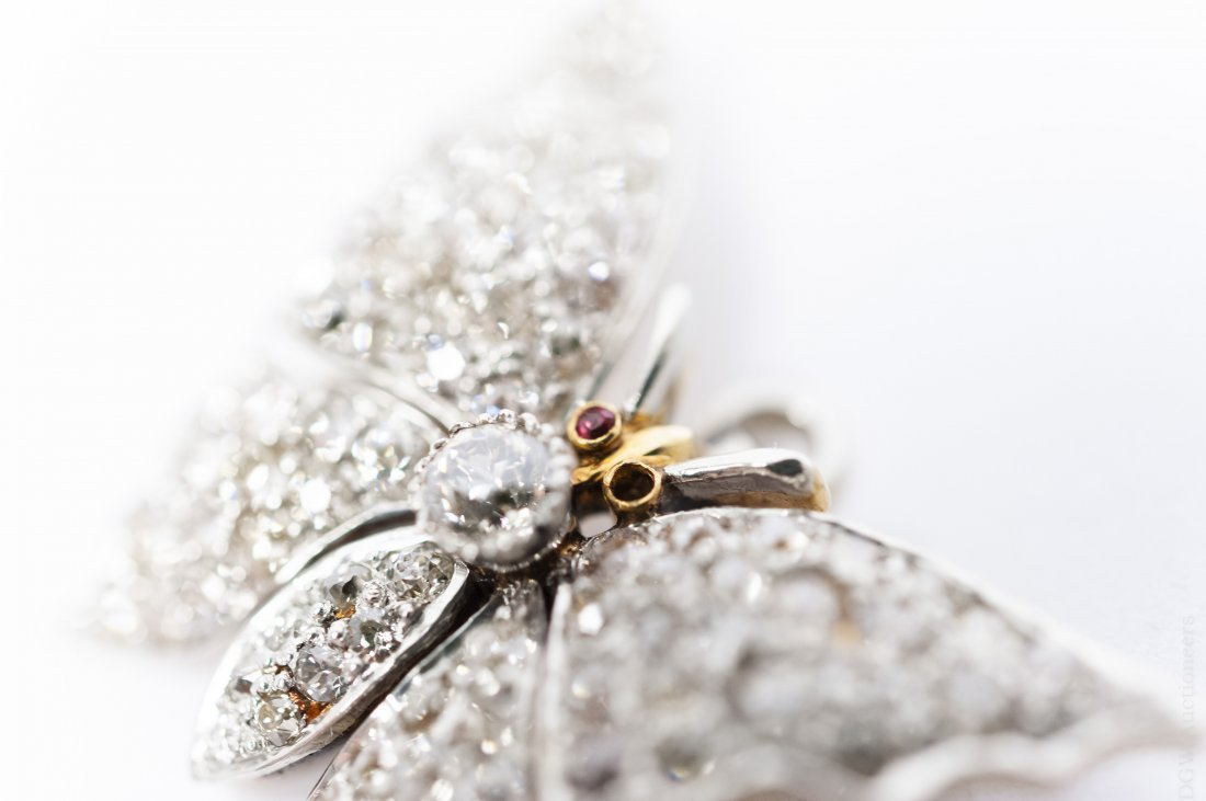 Diamond Butterfly Brooch / Pendant. - 4