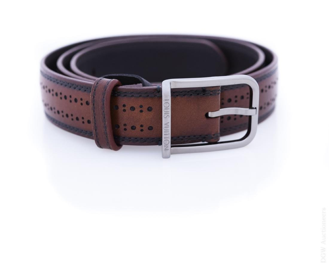 Louis Vuitton Brown Leather Belt.