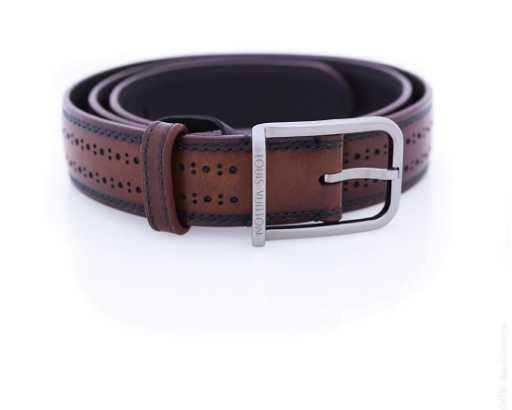 0f802aef3069 Louis Vuitton Brown Leather Belt.
