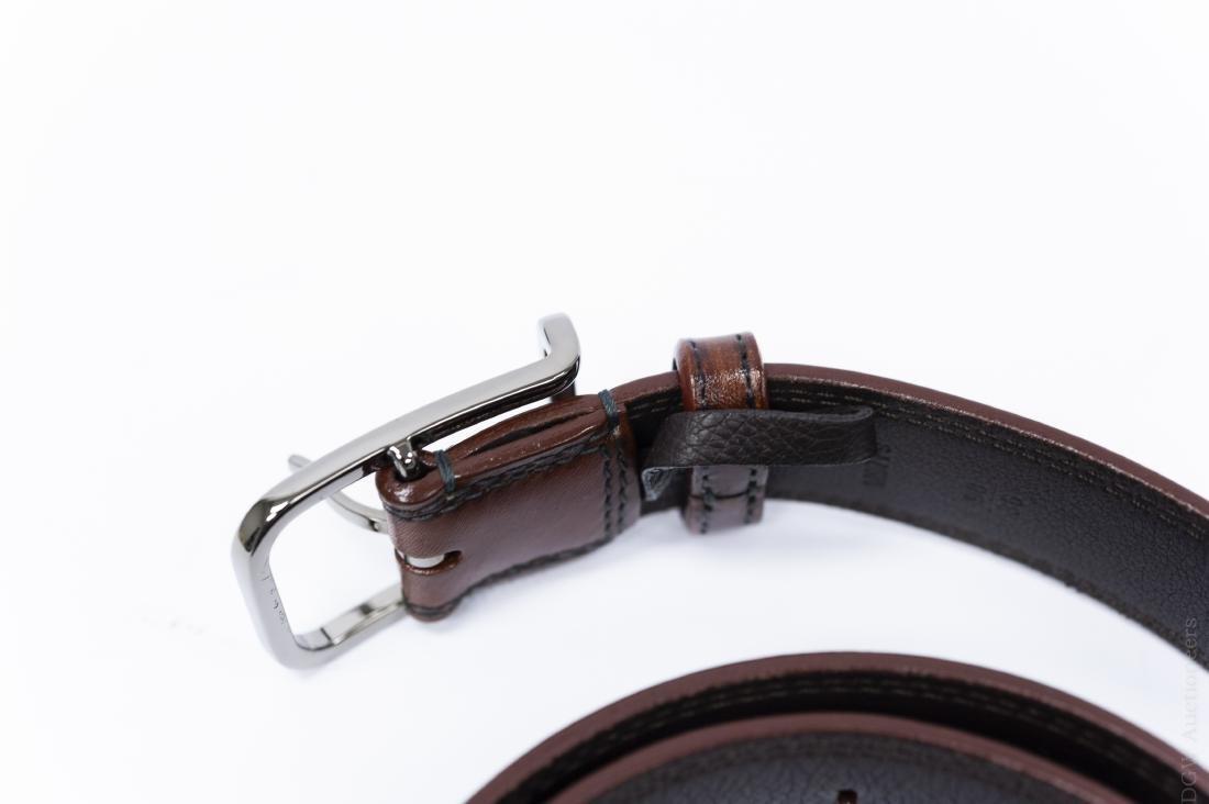 Louis Vuitton Brown Leather Belt. - 2