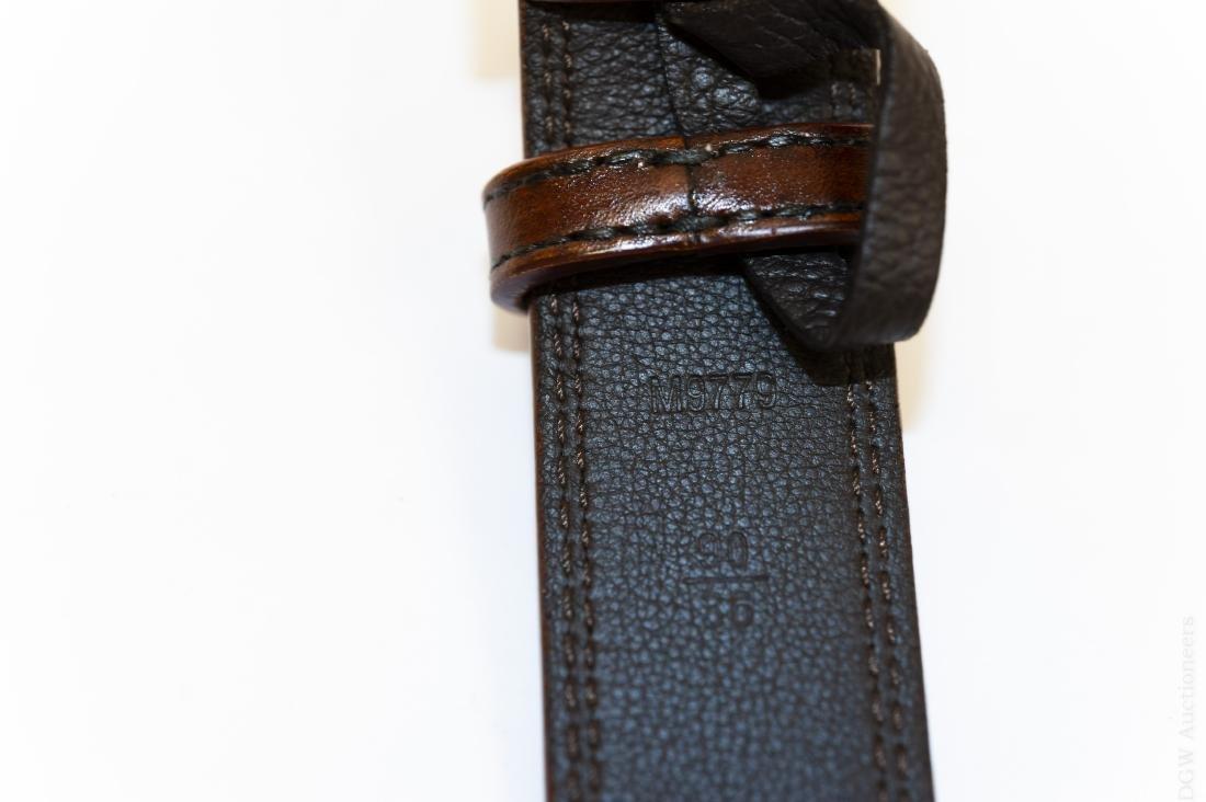 Louis Vuitton Brown Leather Belt. - 3