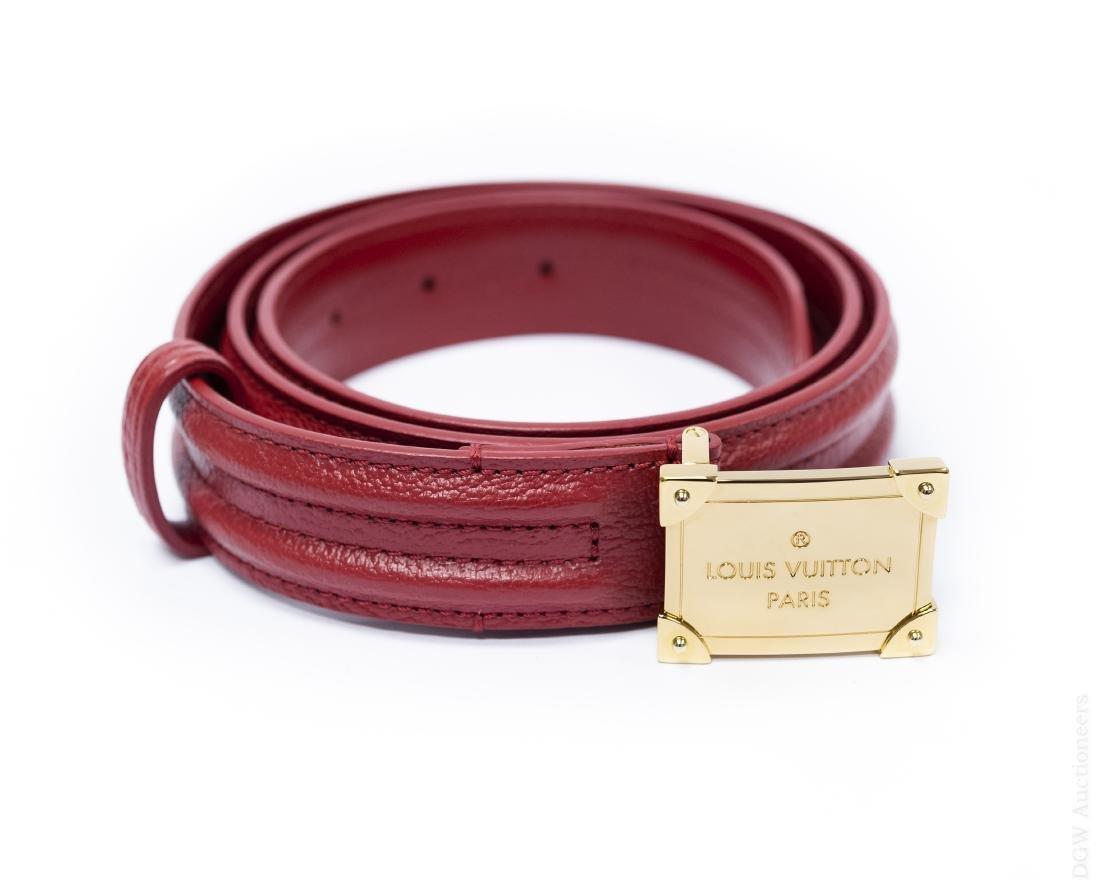 Louis Vuitton Leather Belt.