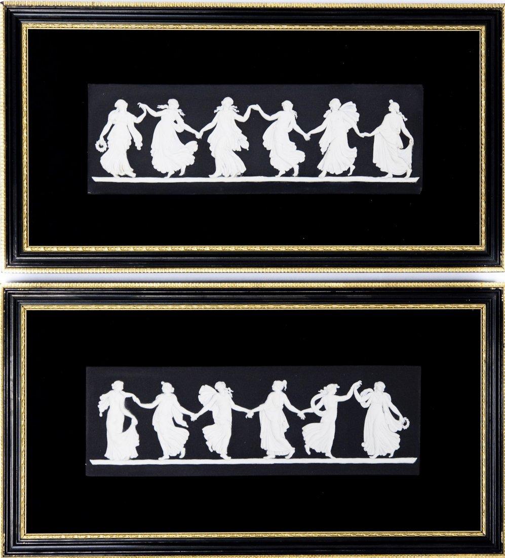 (2) Wedgwood Jasperware Dancing Hours Plaques.