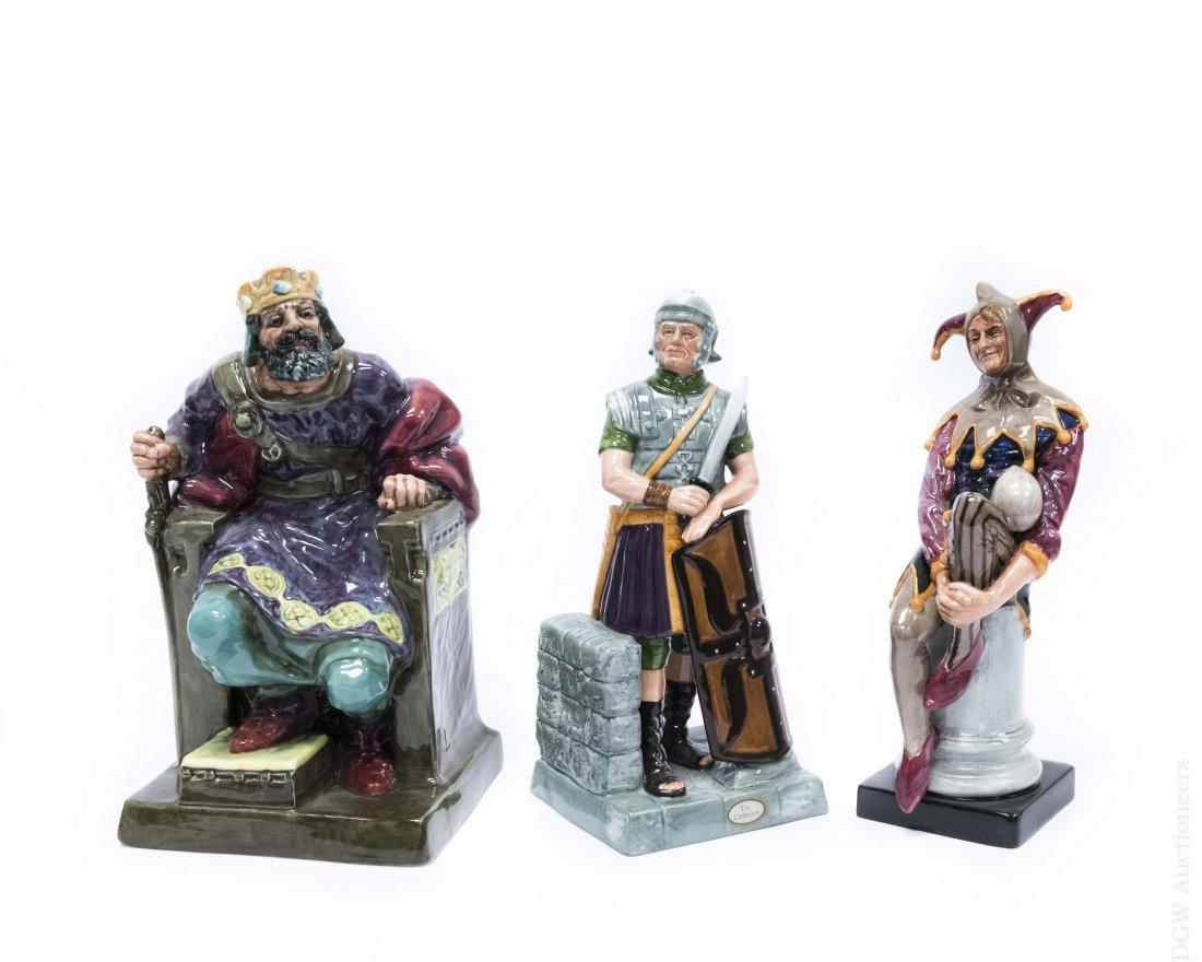 (3) Royal Doulton Porcelain Figures.