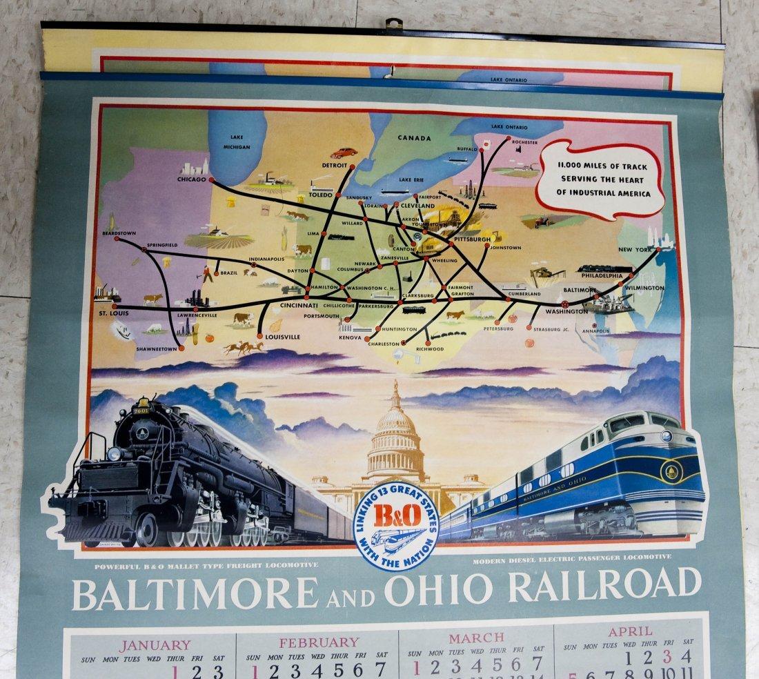 (11) Baltimore & Ohio Railroad 1950s Calendars. - 3