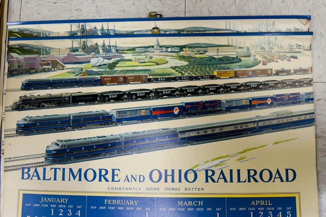 (11) Baltimore & Ohio Railroad 1950s Calendars. - 4