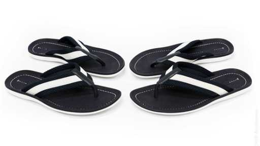 516bf130636d (2) Pairs of Louis Vuitton Thong Sandals.