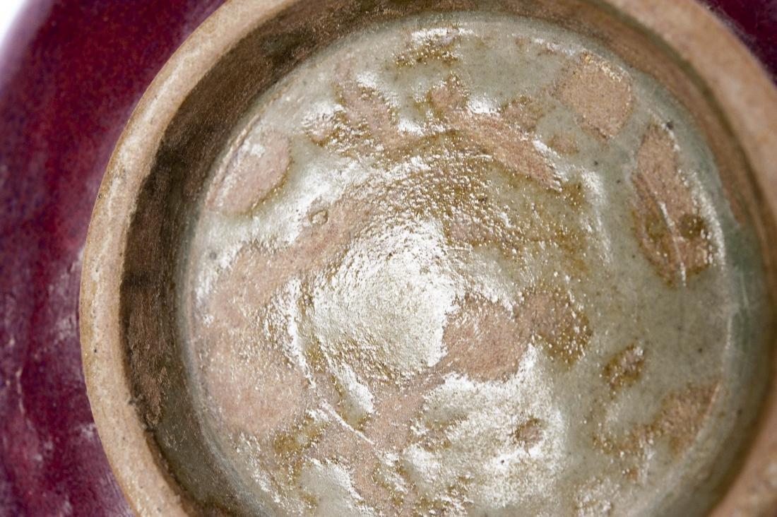 Chinese Plum Glaze Porcelain Dish. - 4