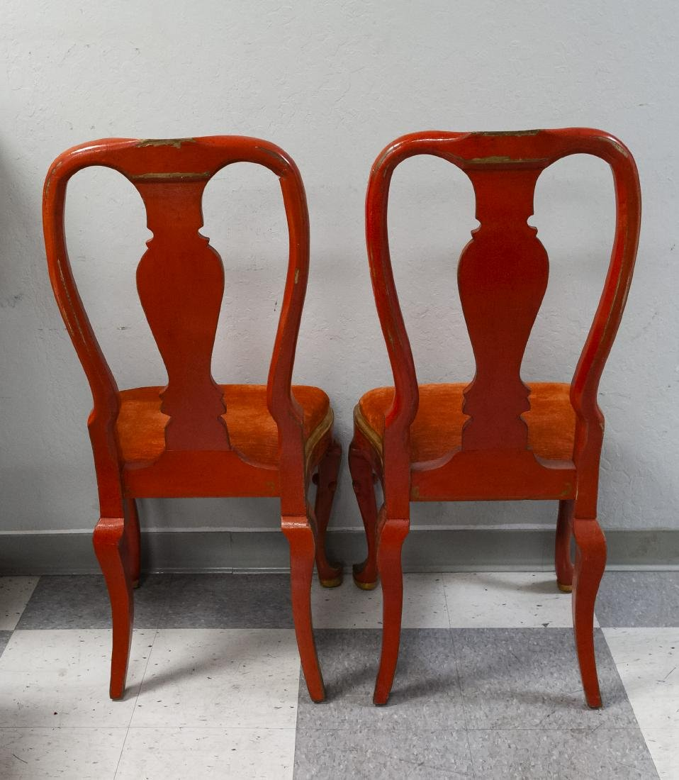 Pair of Japonesque Queen Anne Style Chairs. - 3