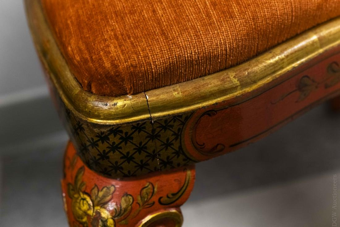 Pair of Japonesque Queen Anne Style Chairs. - 7