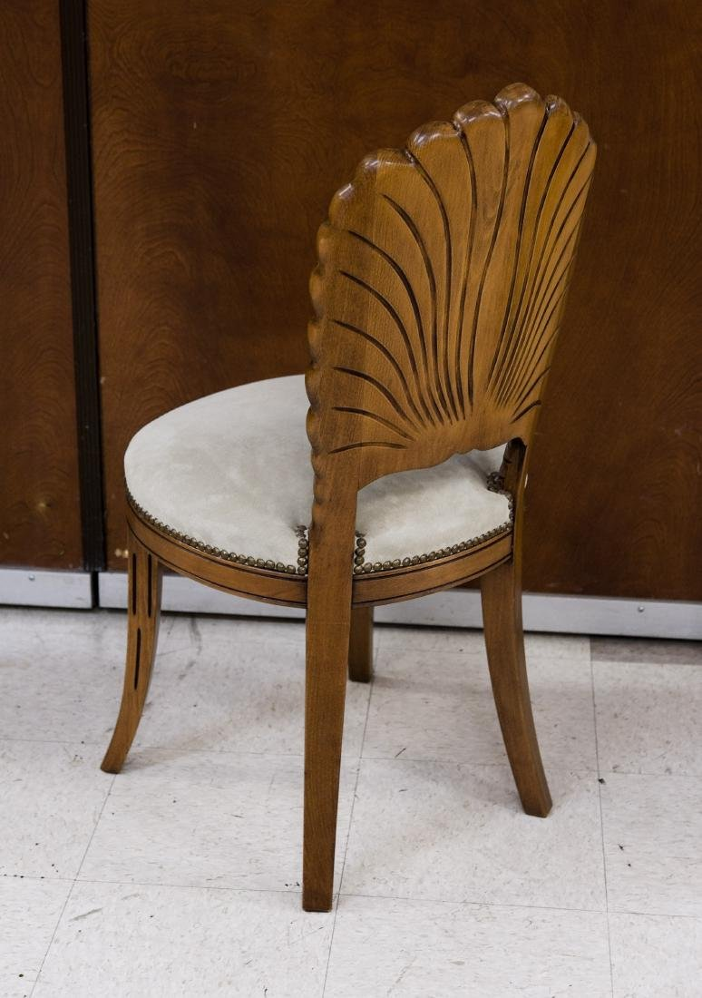 Baker Pedestal Table and Set of Four Chairs. - 5