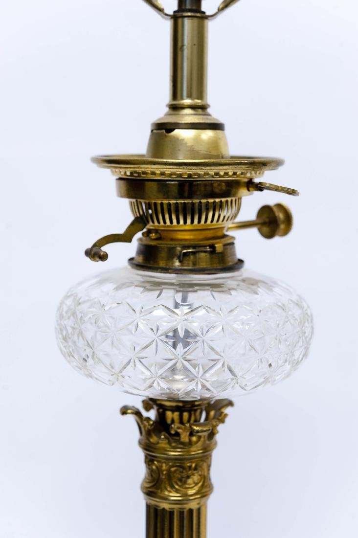 Pair of 19th C, Gilt Bronze Fluted Table Lamps. - 4