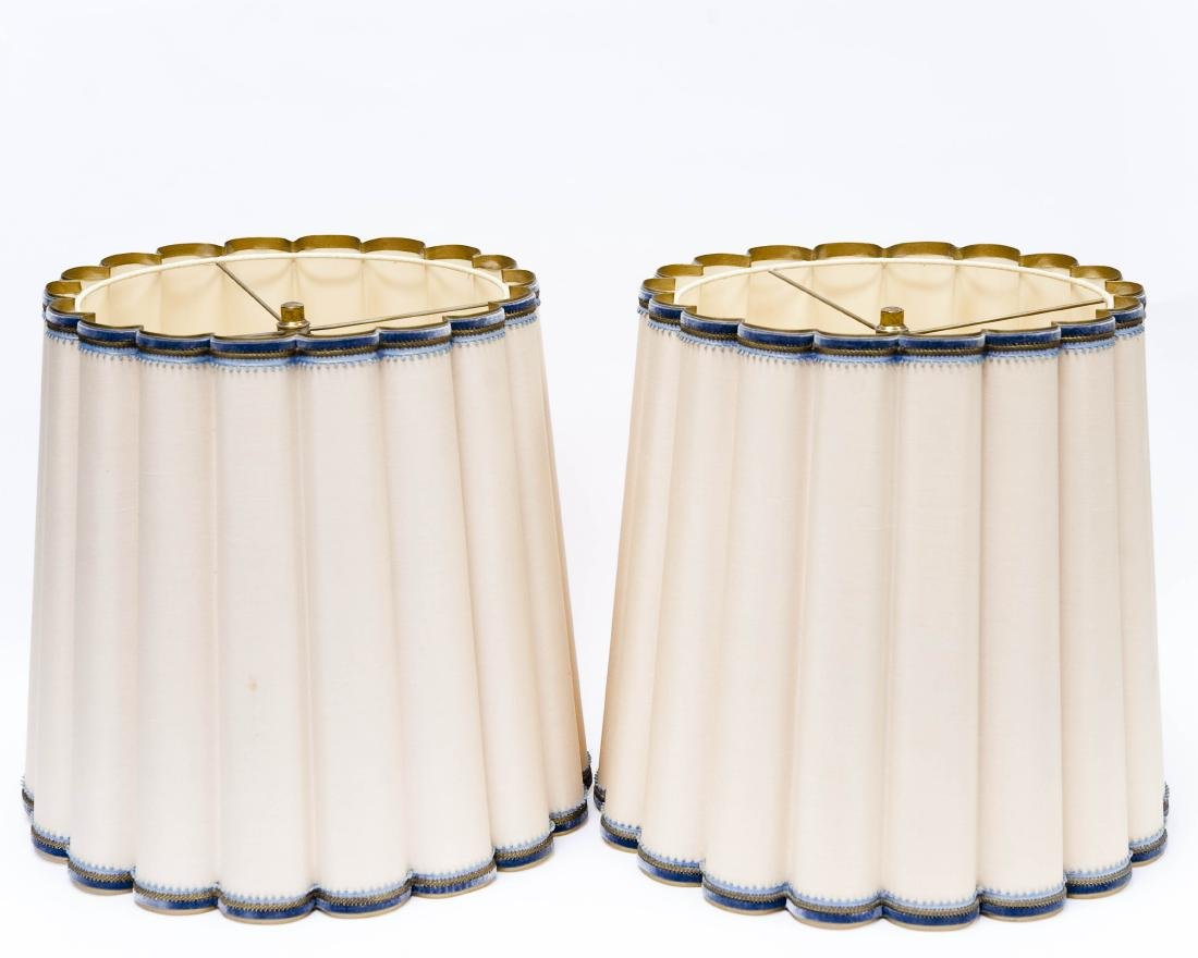 Pair of 19th C, Gilt Bronze Fluted Table Lamps. - 6