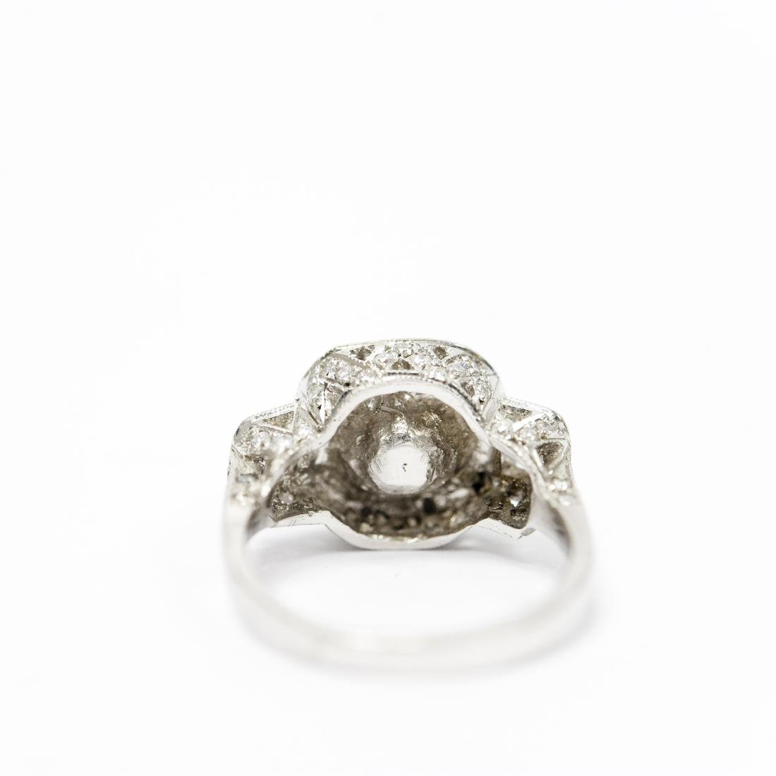 Ladies Platinum, Diamond and Sapphire Ring. - 5