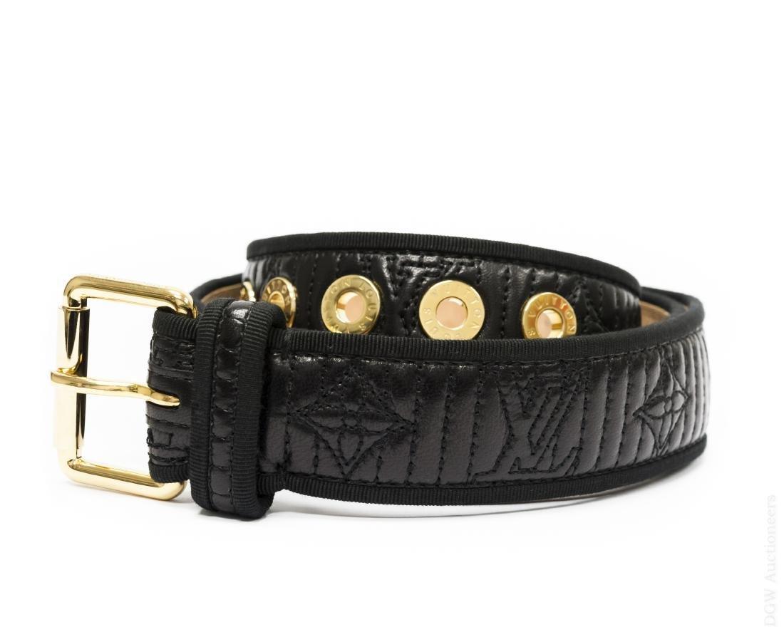 Louis Vuitton Ladies' Black Leather Belt.