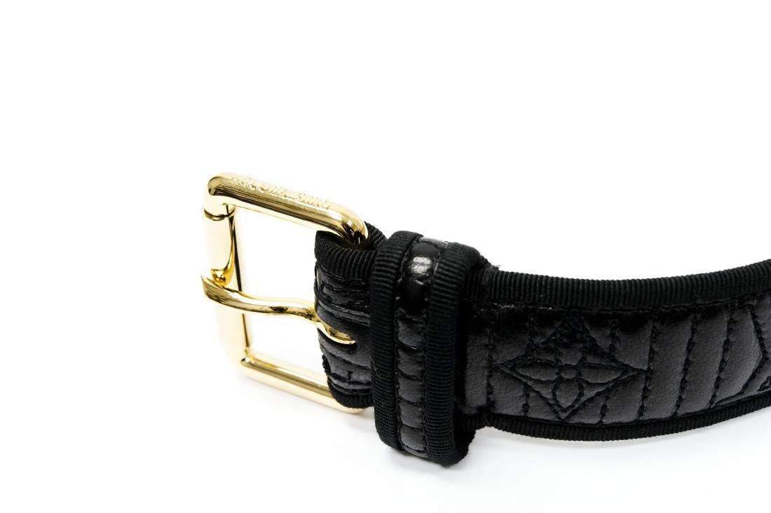 Louis Vuitton Ladies' Black Leather Belt. - 2