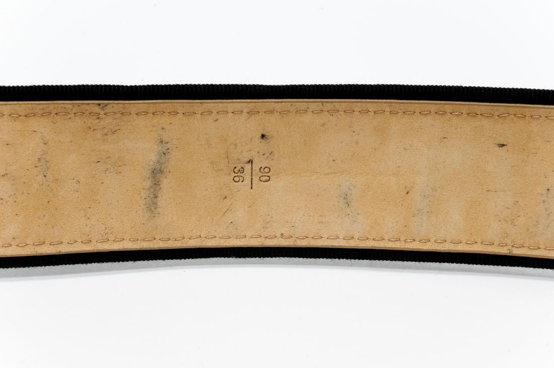 Louis Vuitton Ladies' Black Leather Belt. - 4