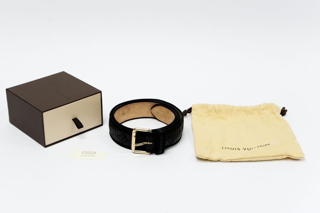 Louis Vuitton Ladies' Black Leather Belt. - 9