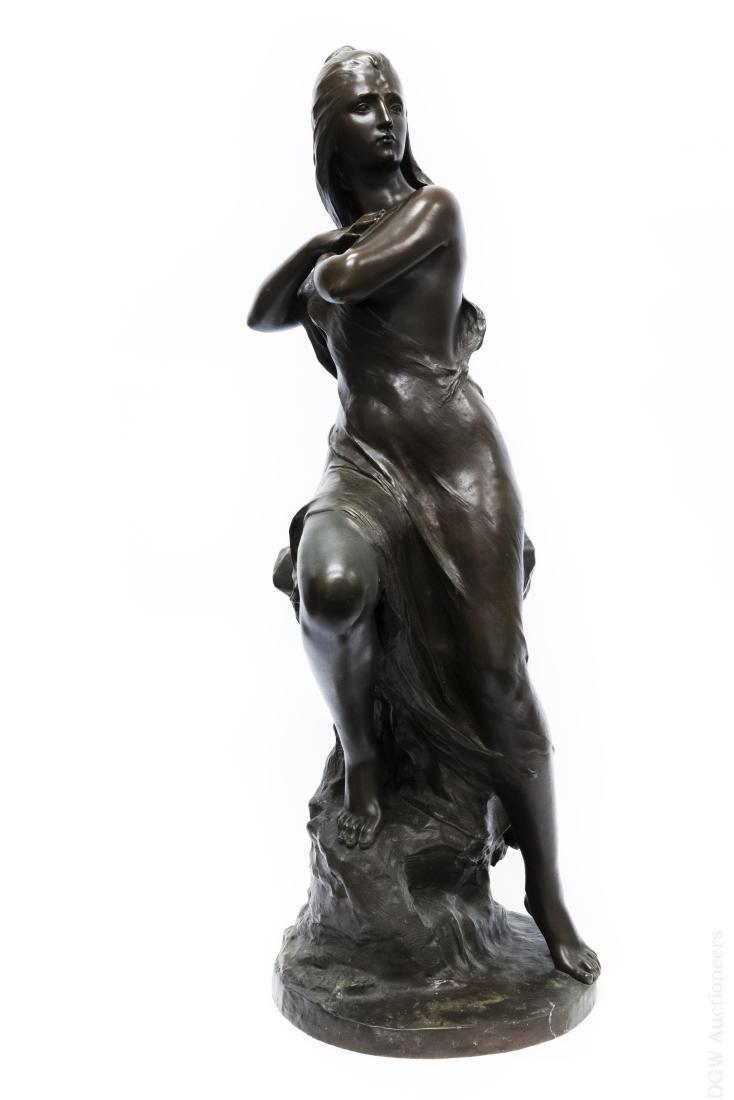 Raoul Francoise Larche, Bronze Woman, Tiffany & Co.